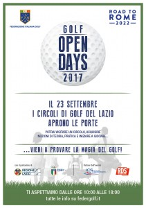 Locandina Open Days Golf