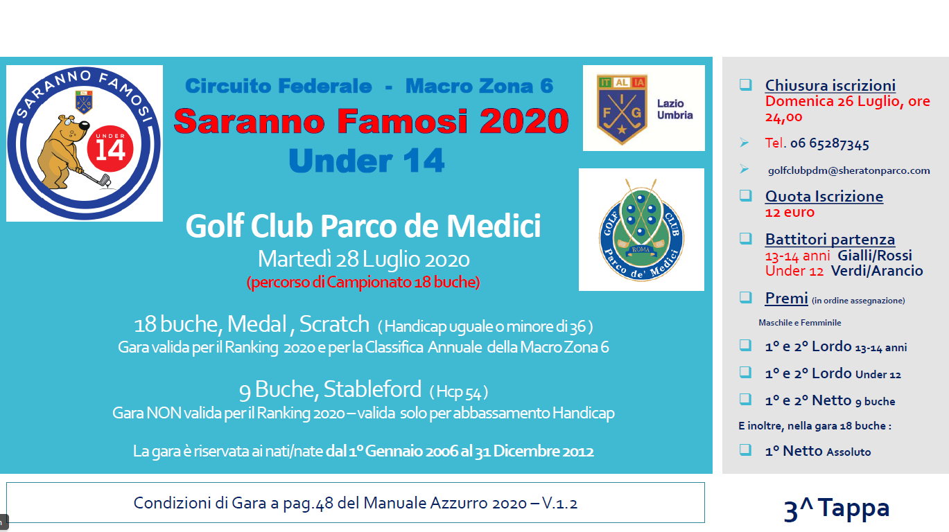 3° Tappa Saranno Famosi FIG - gara riservata Under 14
